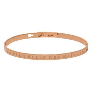 LA PLUS BELLE DES MAÎTRESSES Jonc rosé bracelet à message