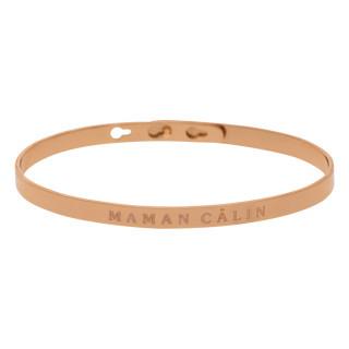 MAMAN CÂLIN bracelet jonc rosé à message
