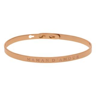 MAMAN D'AMOUR Jonc rosé bracelet à message