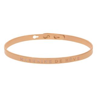 MARRAINE DE RÊVE bracelet jonc rosé à message