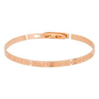 C'EST SÛR, JE SUIS ADOPTÉE' bracelet jonc rosé à message