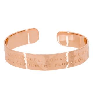 JE SUIS UNE MAMAN TATOUEE, COMME UNE MAMAN NORMALE MAIS CARREMENT PLUS COOL ! bracelet jonc rosé à message
