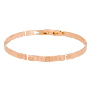 BELLE ET REBELLE bracelet jonc rosé à message