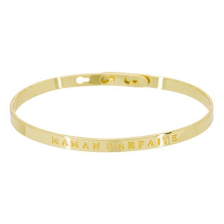 MAMAN PARFAITE Jonc doré bracelet à message