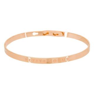 PETITE SOEUR bracelet jonc rosé à message