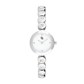 Montre Femme Céramique Blanche BEVERLEY - HY8300C3BM1