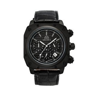 Montre Chronowatch Airzone II Quartz Noir Bracelet Cuir - HW5181C1BC1