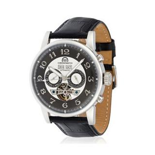 Montre Chronowatch Camara Automatique Gris Bracelet Cuir - HA5310Cg2BCt