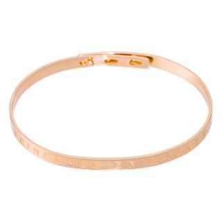 PRINCESSE EN BASKET bracelet jonc rosé à message