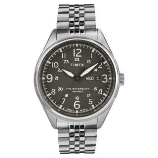 Montre Homme Timex Waterbury Day Date Boîtier SST 42mm Cadran noir  - TW2R89300