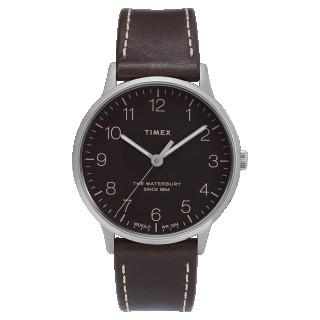 Montre Homme Timex WATERBURY CLASSIC en cuir marron