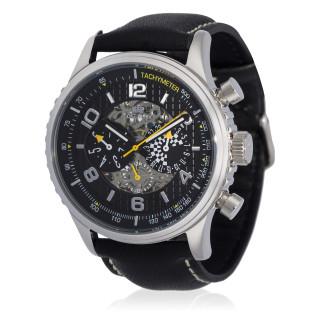 Montre Jost Burgi RACING bracelet cuir - HB4A60C1jBC1
