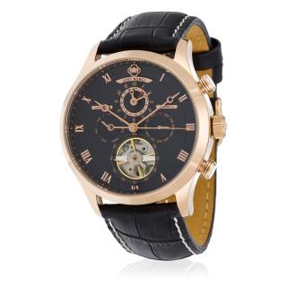 Montre Jost Burgi LA METROPOLE bracelet cuir - HB4B83C1BC1