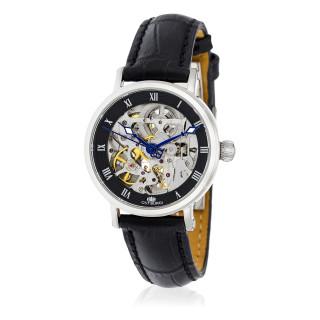 Montre Jost Burgi LEGACY FEMME SKELETTE bracelet cuir - HB4C10C1BC1