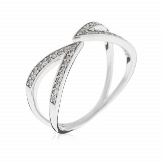 Bague Or Blanc 375 CARLA Diamants 0,18 carat