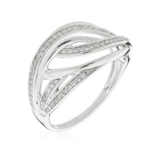 Bague Or Blanc 375 DOHA Diamants 0,22 carat