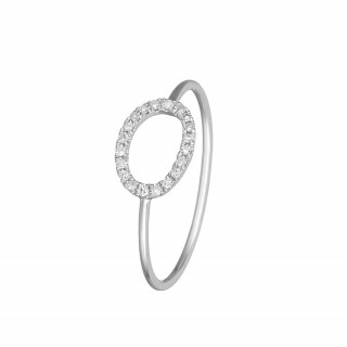 Bague Or Blanc 375 ECLIPSE Diamants 0,07 carat