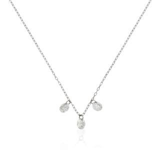 Collier Or Blanc 750 SHINY Diamants 0,22 carat