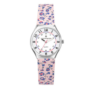 Montre Fille LuluCastagnette Mini Star  bracelet rose motif liberty - 38827