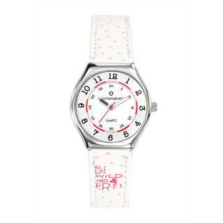 Montre Fille LuluCastagnette Mini Star  bracelet blanc Be wild and free - 38851
