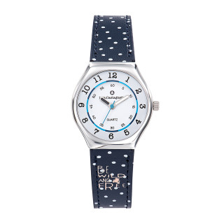 Montre Fille LuluCastagnette Mini Star  bracelet bleu Be wild and free- 38852