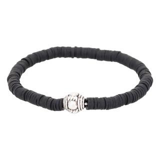 Bracelet Homme élastiqué noir SMOKY