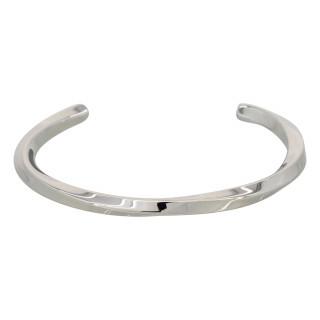 Bracelet Jonc Homme Acier coloris argenté