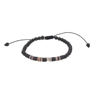 Bracelet Homme ajustable pierres noires ROCK AND SAND