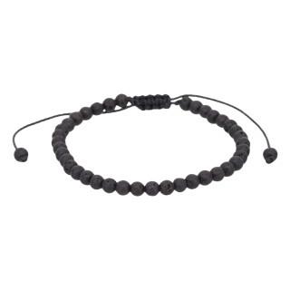 Bracelet Homme ajustable pierres noires ANTONIO