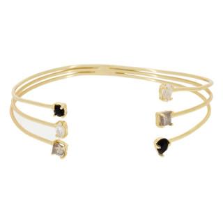 Bracelet jonc ouvert Karen Onyx noire