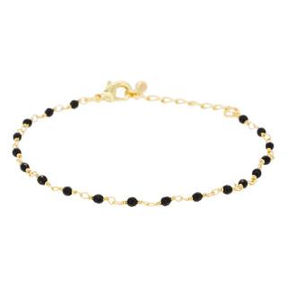 Bracelet chaine Elisa Jade noire