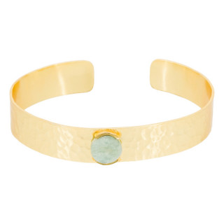 Bracelet jonc ouvert Caroline Amazonite verte