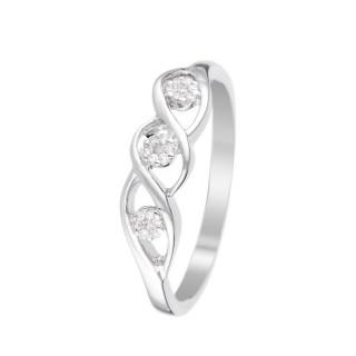 Bague Or Blanc 375 DARCY Diamants 0,07 carats