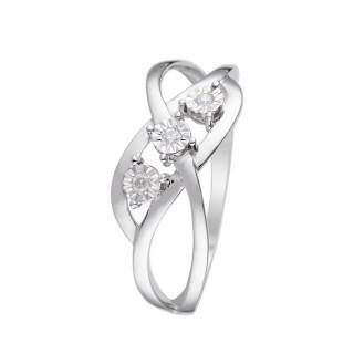 Bague Or Blanc 375 ALANA Diamants 0,03 carats