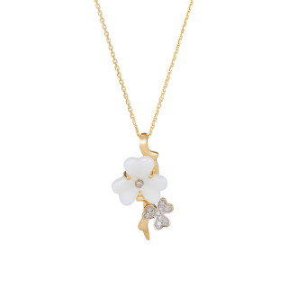 Pendentif Or Jaune POETICA Diamants 0,06 carat