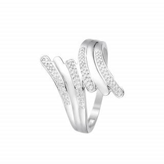 Bague Or Blanc 375 BEAUTIFUL TROUBLE Diamants 0,1 carats