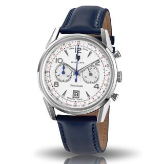 Montre homme LIP HIMALAYA 40 chronographe blanc argenté - 671593