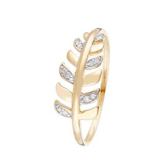 Bague Or Jaune GEZIRA Diamants 0,04 carat
