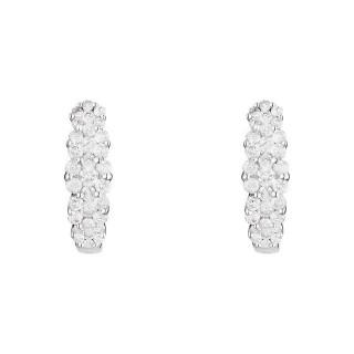 Boucles d'oreilles Or Blanc MERVEILLES DE LUMIÈRES Diamants 0,5 carat