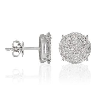 Boucles d'oreilles Or Blanc SUBLISSIME Diamants 0,45 carat