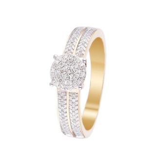 Bague Or Jaune TOI QUE J'AIME Diamants 0,20 carat