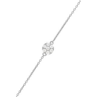 Bracelet chaine Or Blanc A LA FOLIE, POUR LA VIE Diamants 0,15 carat