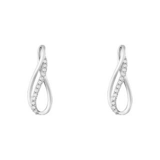 Boucles d'oreilles Or Blanc INFINITO Diamants 0,13 carat