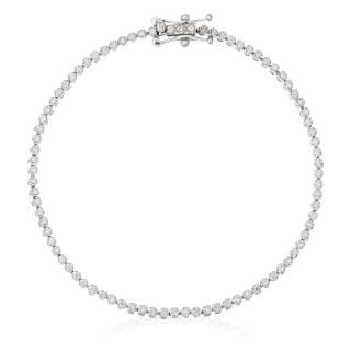 Bracelet Or Blanc RIVIÈRE Diamants 0,5 carat