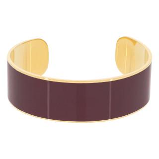 Bracelet manchette OSLO émail Violet finition dorée