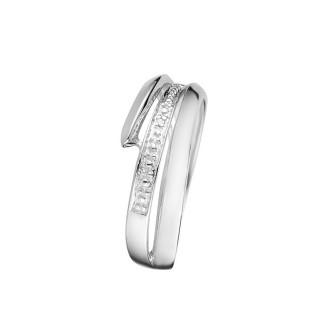 Bague Or Blanc 375 DINA Diamants 0,003 carat