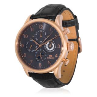 Montre Jost Burgi QUANTIEME bracelet cuir noir- HB4B73CgBC1