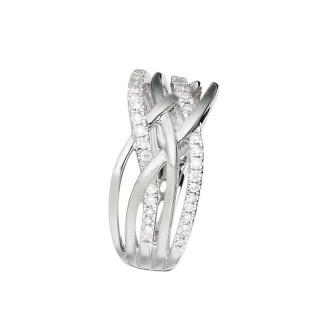 Bague Or Blanc 375 DÉDALE DE DIAMANTS Diamants 0,25 carat
