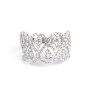 Bague Or Blanc 375 SUPRÊME Diamants 0,96 carat