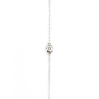 Bracelet chaine Or Blanc 750 MIMI BRILLANT PM Diamants 0,1 carat